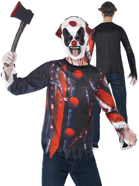Boy's Teen Sinister Creepy Clown Costume
