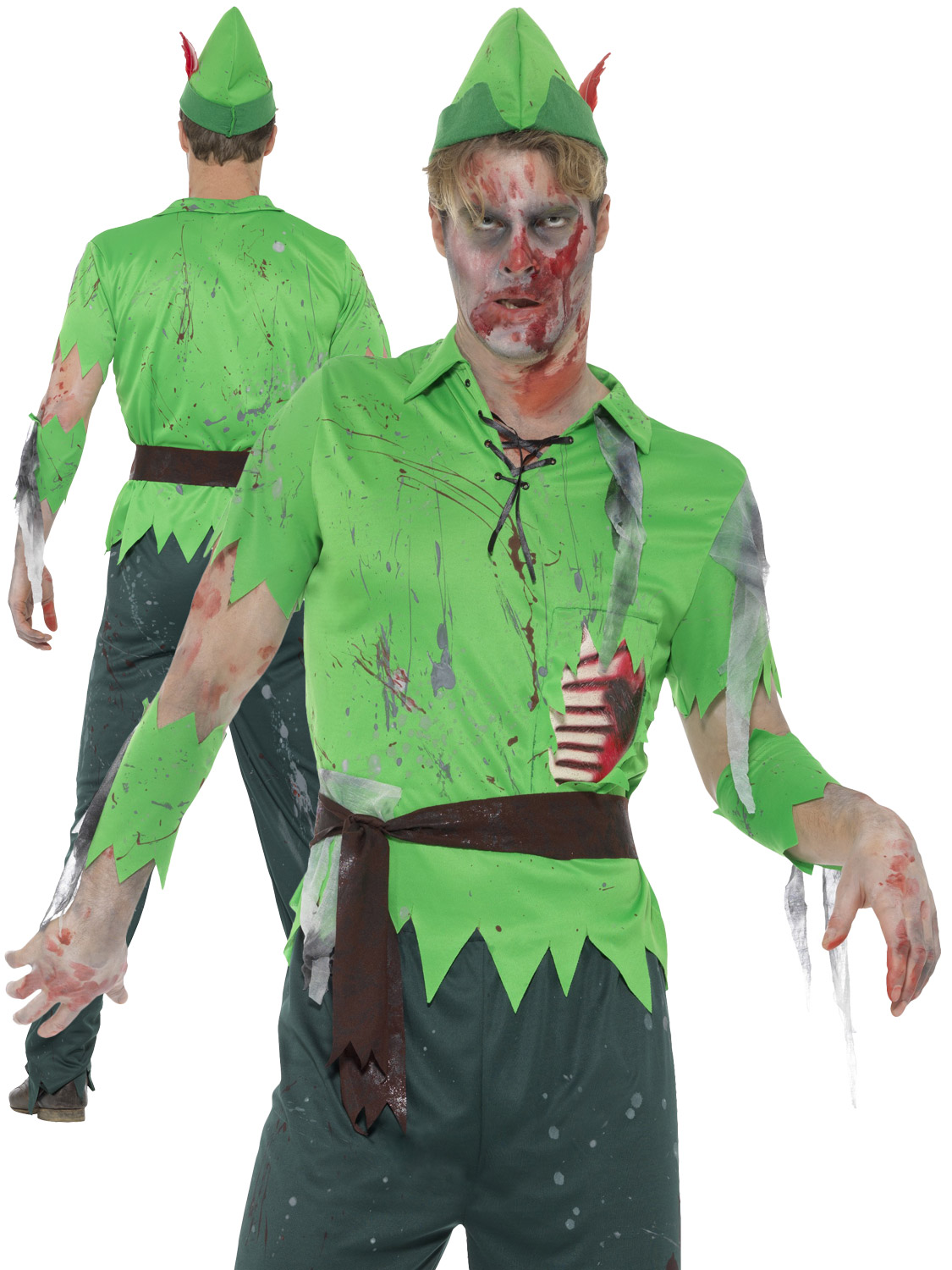 adults peter pan zombie costume mens ladies fairy pirate. Black Bedroom Furniture Sets. Home Design Ideas