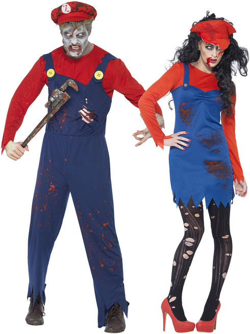 Adult's Zombie Plumber Costume