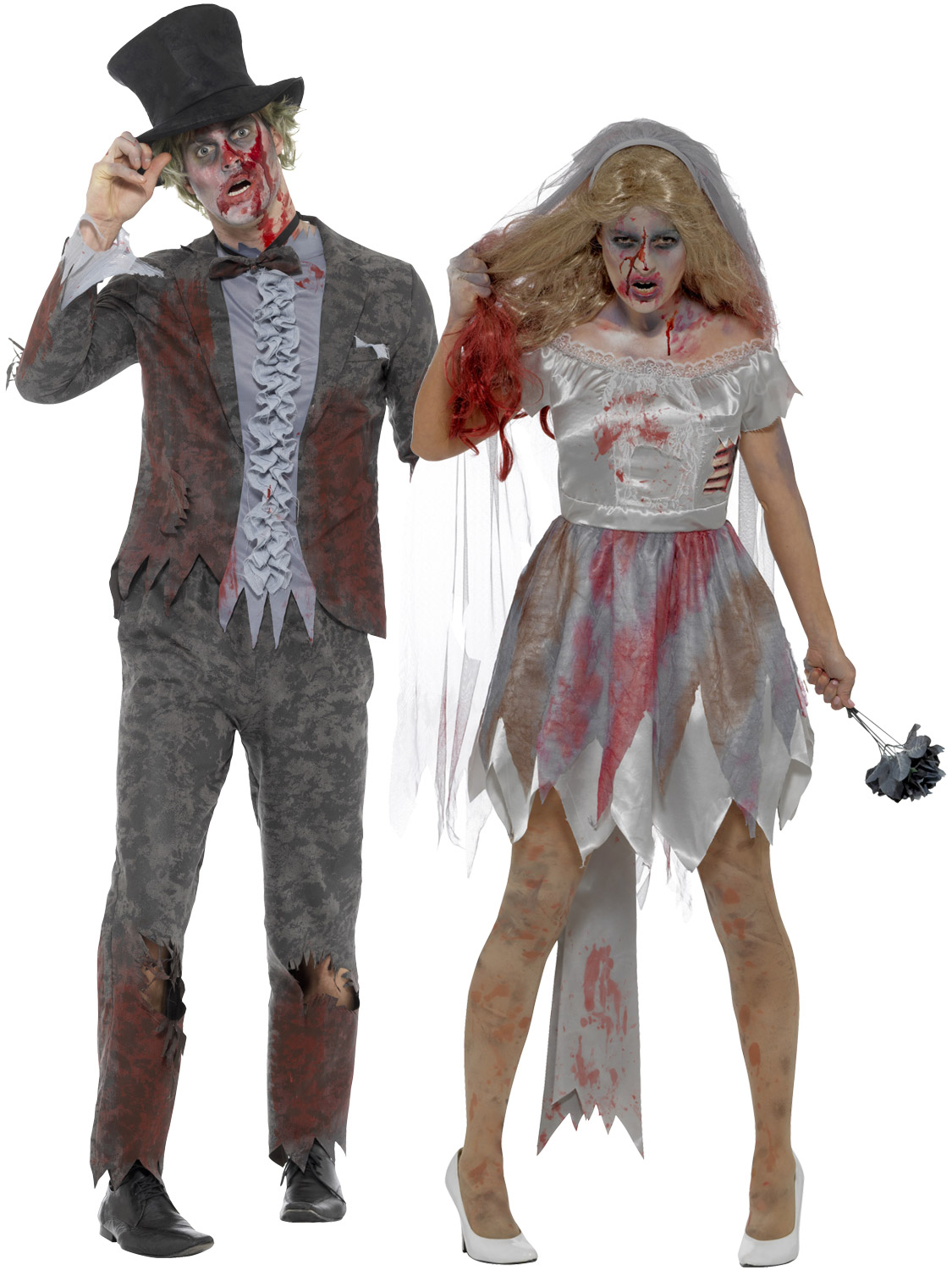 Christmas Zombie Costume.Details About Adult Zombie Bride Groom Costume Mens Ladies Halloween Fancy Dress Outfit Couple