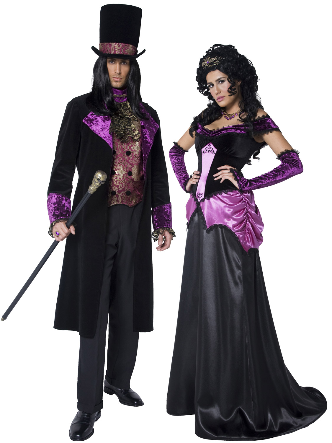 adult gothic count countess nocturna halloween costume mens ladies fancy dress ebay. Black Bedroom Furniture Sets. Home Design Ideas