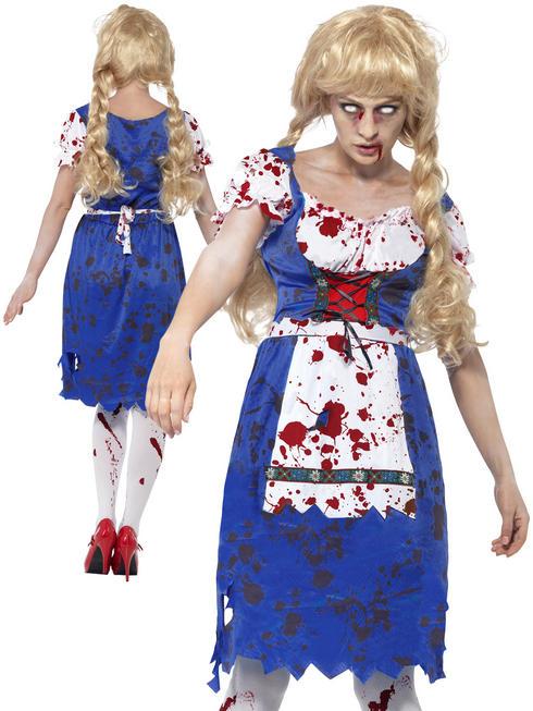Ladies Zombie Bavarian Costume