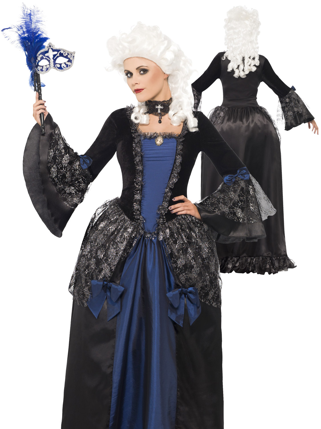 Ladies halloween masquerade costume womens baroque beauty fancy transform yourself into a baroque beauty with this stunning masquerade ball style costume ideal for any halloween party or event solutioingenieria Images