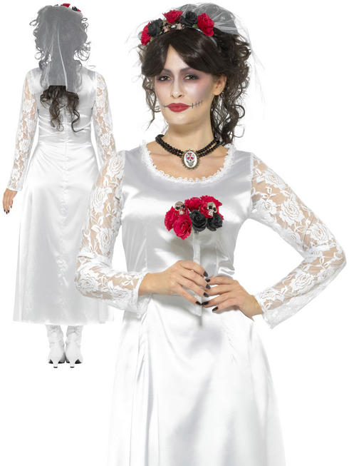 Ladies Day of the Dead Bride Costume