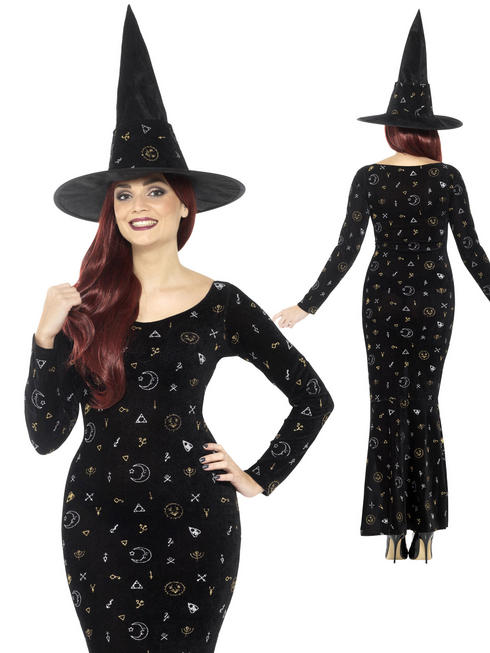 Ladies Deluxe Black Magic Ouija Witch Costume