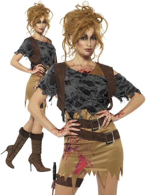 Ladies Deluxe Zombie Huntress Costume