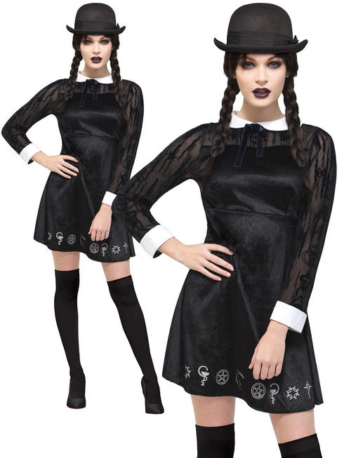 Ladies Fever Deluxe Gothic School Girl Costume