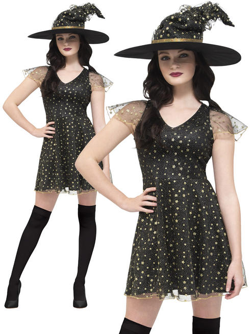 Ladies Fever Moon & Stars Witch Costume