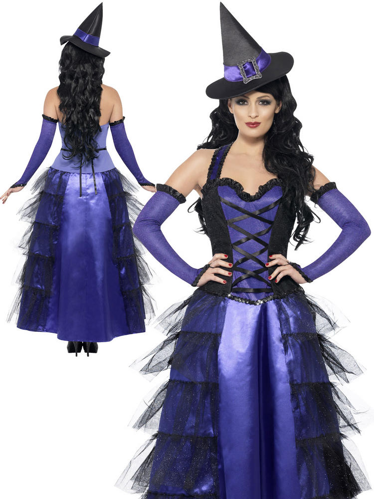 Ladies Glamorous Witch Costume All Halloween Fancy