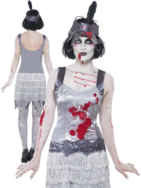 Ladies Zombie Flapper Dress Costume