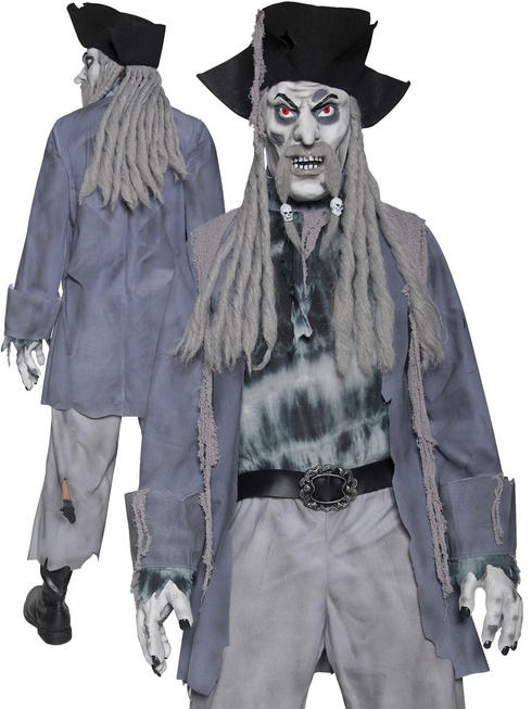Men's Zombie Ghost Pirate Costume