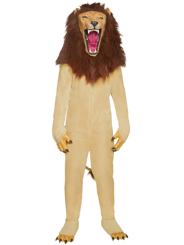 Mens Vicious Lion Costume Adult Circus Fancy Dress Aslan ...