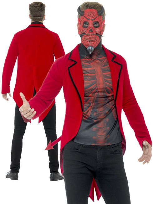 Men's Day of the Dead Devil Costume