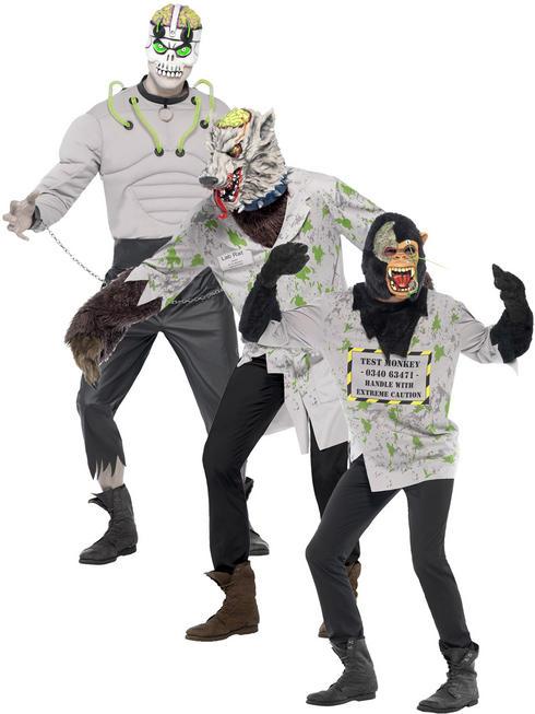 Men's Lab Rat / Creature / Mutant Monkey Costume