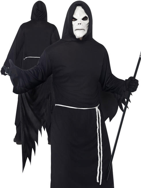 Men's Grim Reaper Costume With Mask