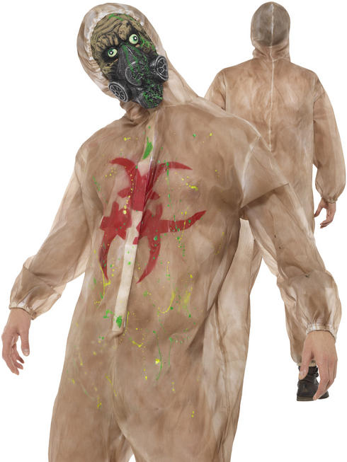 Mens Zombie Biohazard Costume
