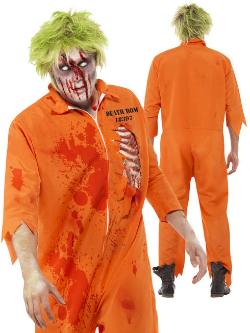 Mens Zombie Death Row Inmate