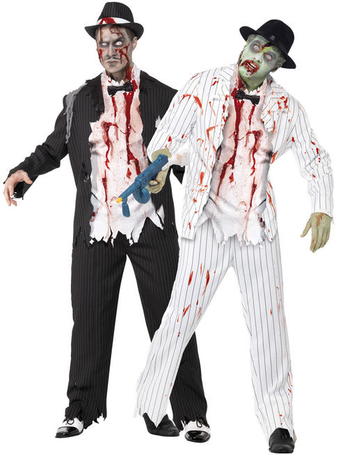 Mens Zombie Gangster Costume