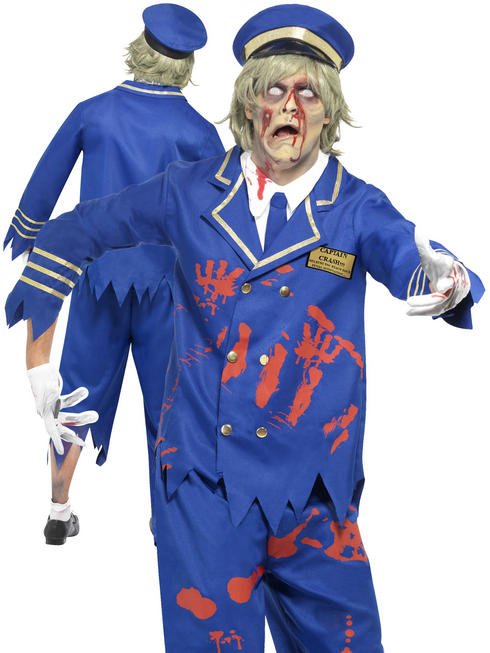 Mens Zombie Pilot/Captain Costume