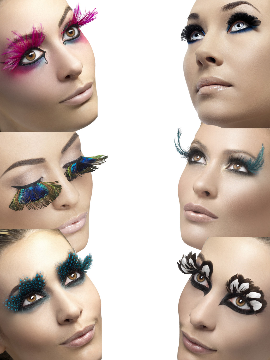 bf280d53017 Details about Ladies Feather Fake False Eyelashes Halloween Fancy Dress  Costume Accessory