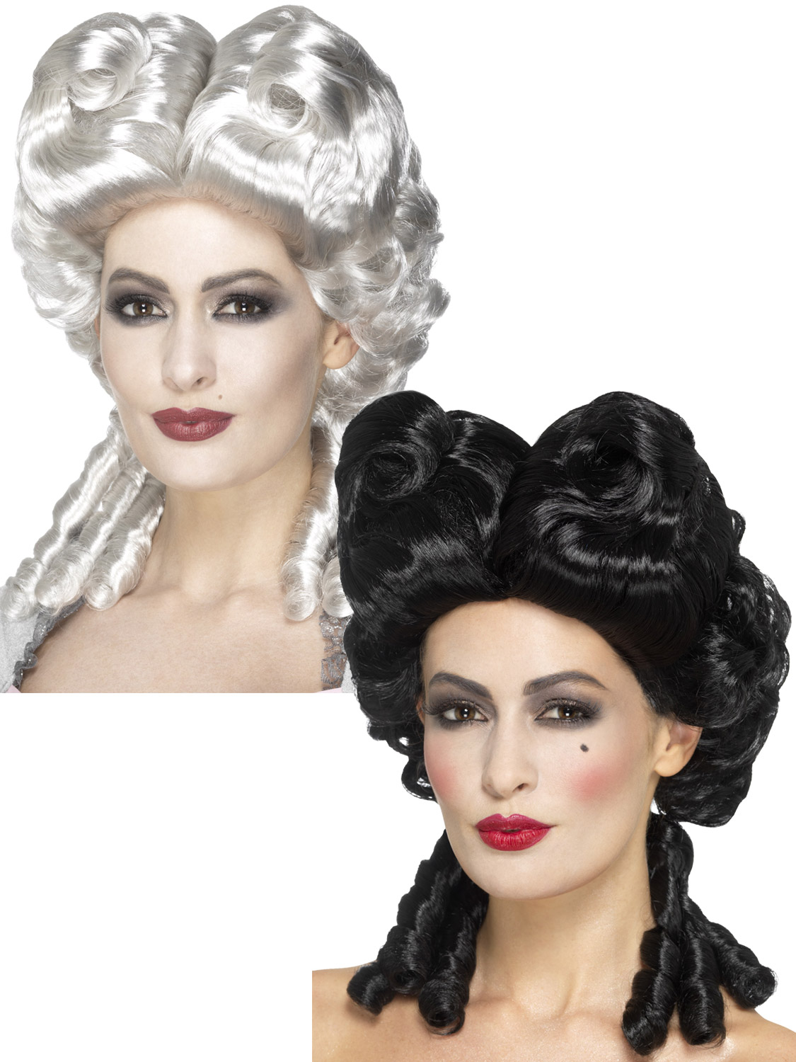 31b6a38fb3235 Details about Ladies Gothic Wig Antoinette Baroque Halloween Fancy Dress  Costume Accessory