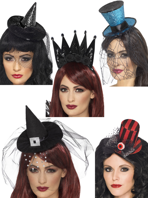 Ladies Black Spider Cobweb Headband Halloween Fancy Dress Costume Accessory