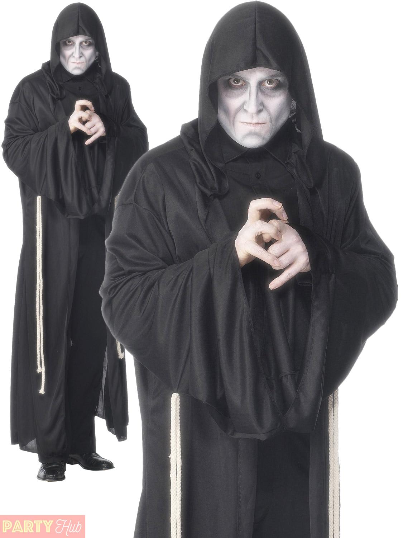 Horror Death Grim Reaper Boys Halloween Demon Fancy Dress Kids Costume Age 4-9