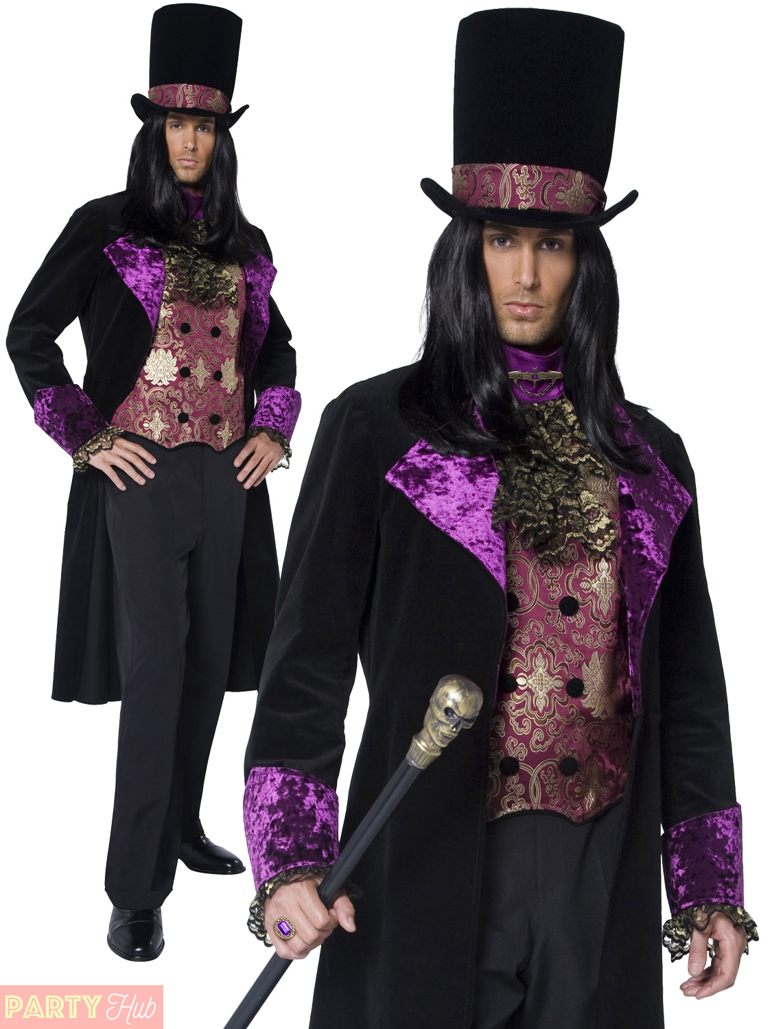 adult gothic count countess nocturna halloween costume mens