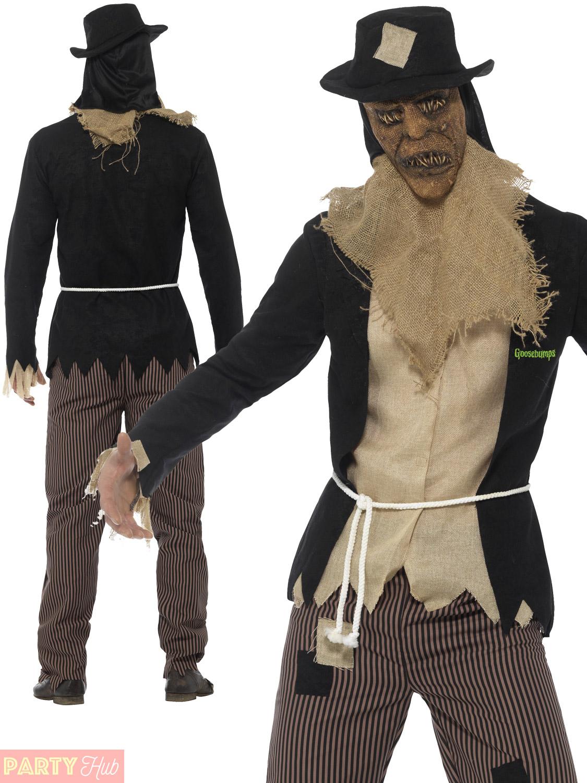 mens goosebumps halloween costume dummy scarecrow pumpkin clown