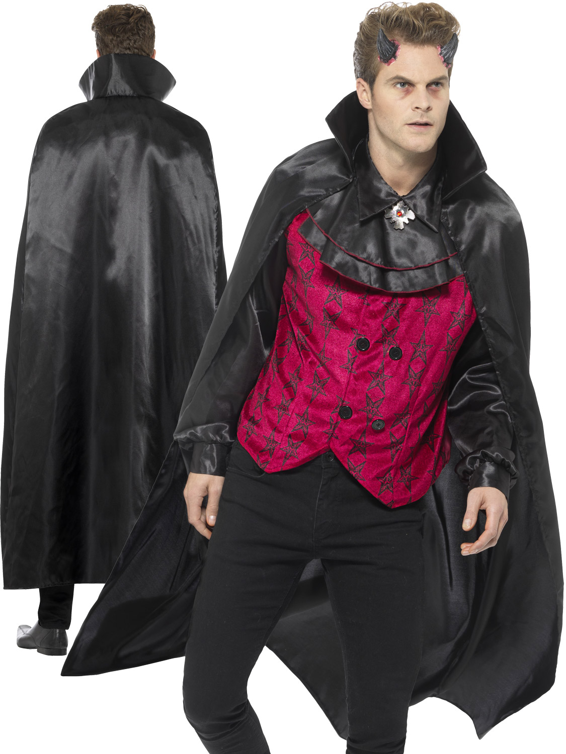 Mens dapper devil costume adults hell vampire halloween fancy dress transform yourself into a handsome devil this halloween in this dapper costume ideal for a party or event solutioingenieria Image collections