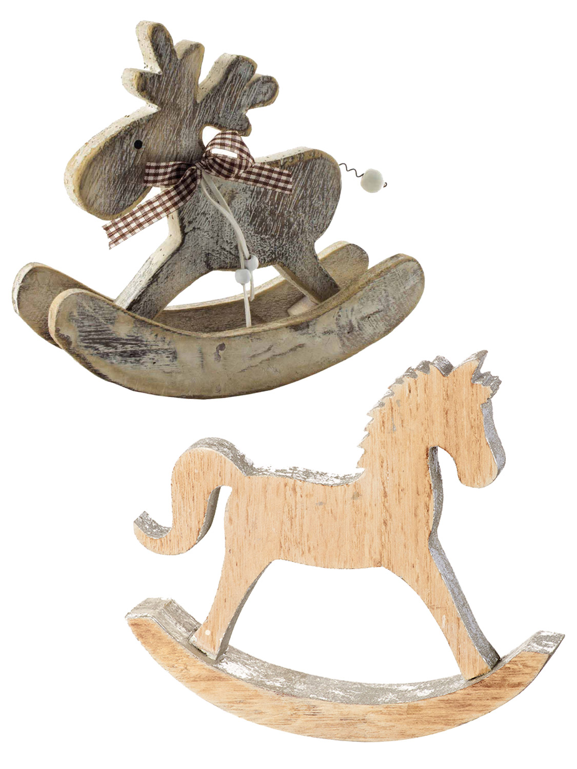 Transform Your Home In Style This Christmas With Either Of These Festive Wooden Rocking Horse Reindeer Ornaments Includes A Driftwood