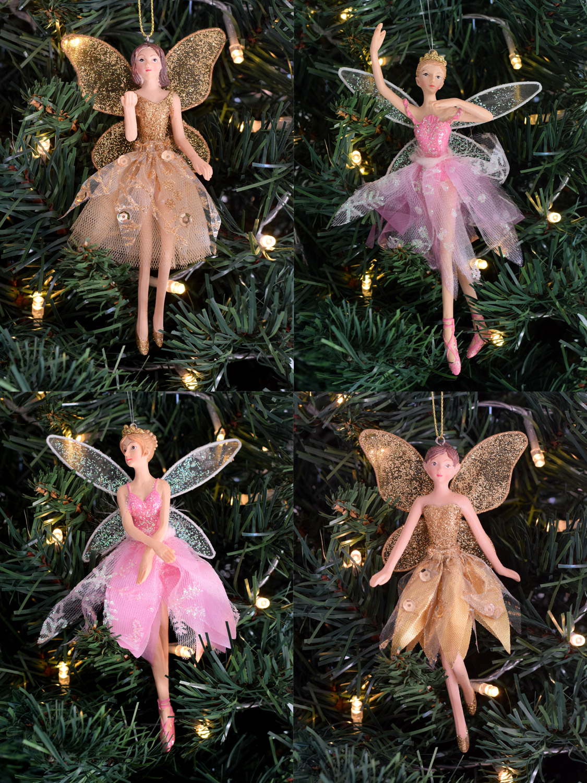 Gisela graham christmas tree ballerina decoration hanging for Ballerina tree decoration