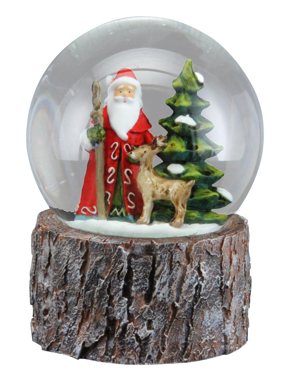 Gisela Graham Musical Christmas Snow Globe Xmas Decoration Santa ...
