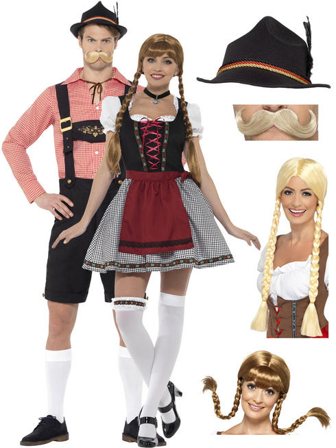 Adult's Oktoberfest Costume + Hat / Wig / Tash