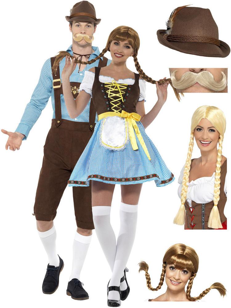 Adult's Olga Bavarian Costume + Hat / Wig / Tash