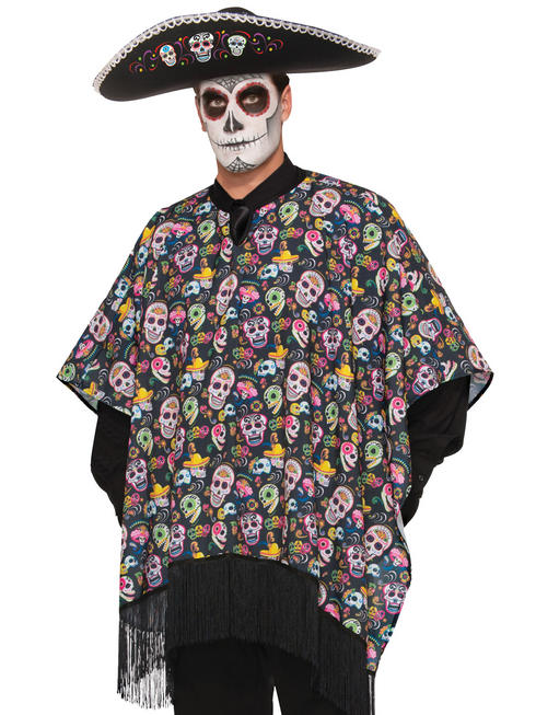 Adult's Day Of The Dead Serape - Standard