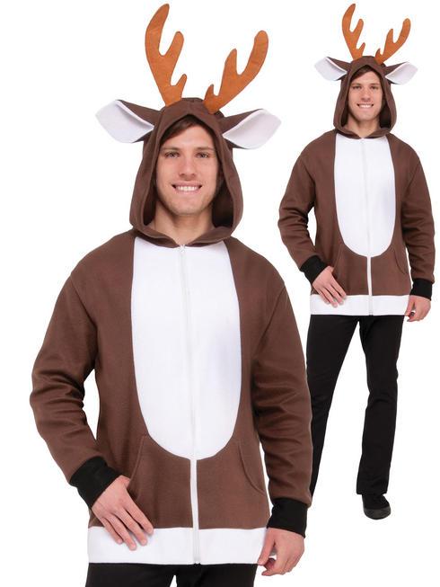 Adult's Reindeer Hoodie - Standard