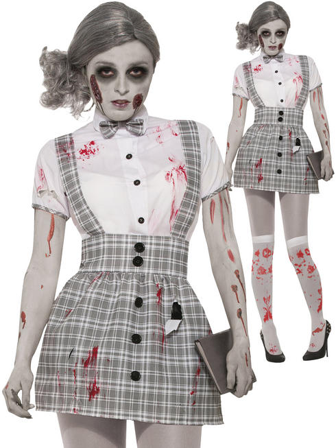 Ladies Zombie School Girl Costume - Standard