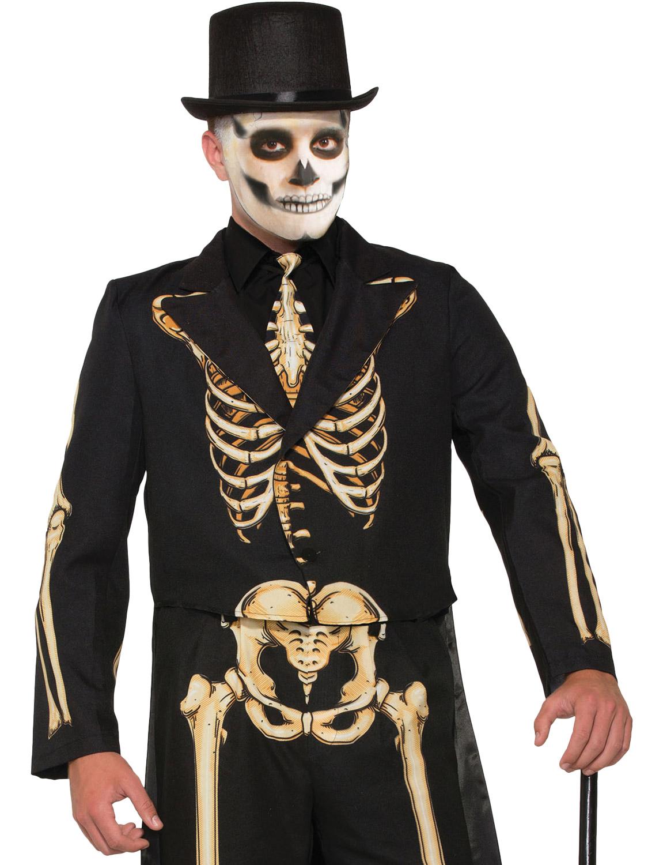 02fb58ab4496 Men's Formal Skeleton Costume - Large | All Halloween | Fancy Dress Hub