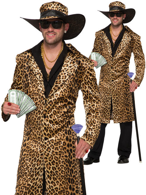 Men's Funky Leopard Jacket & Hat