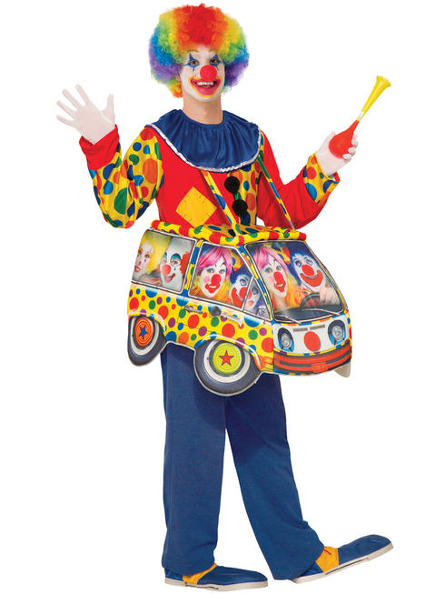 Adult's Step In Clown Costume