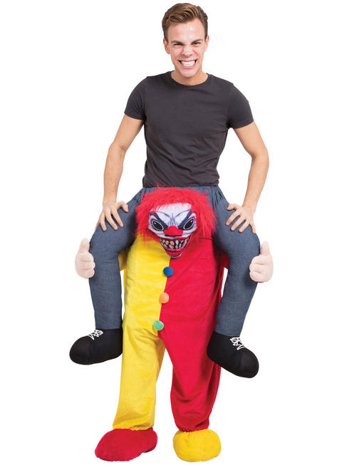 Adult's Scary Clown Piggy Back Costume