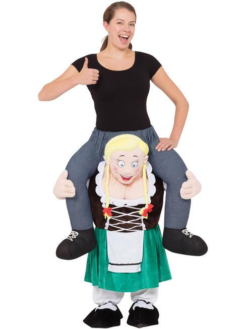Adult's Bavarian Lady Piggy Back Costume