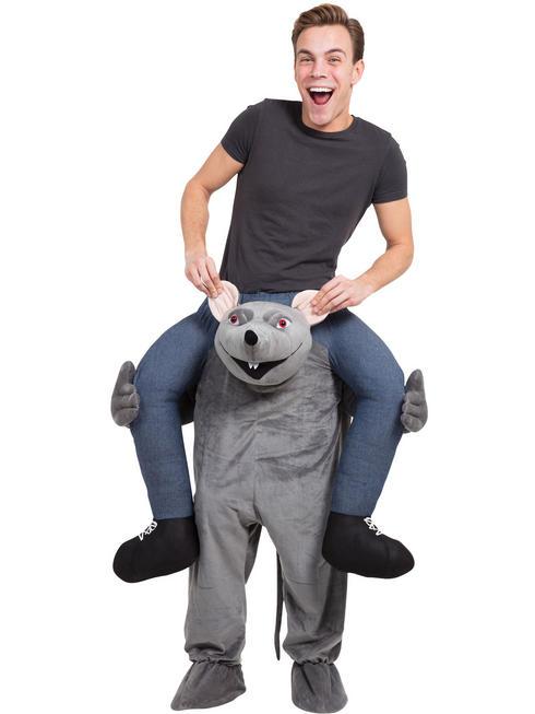 Adult's Rat Piggy Back Costume