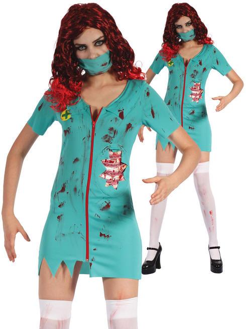Ladies Zombie Surgeon Costume