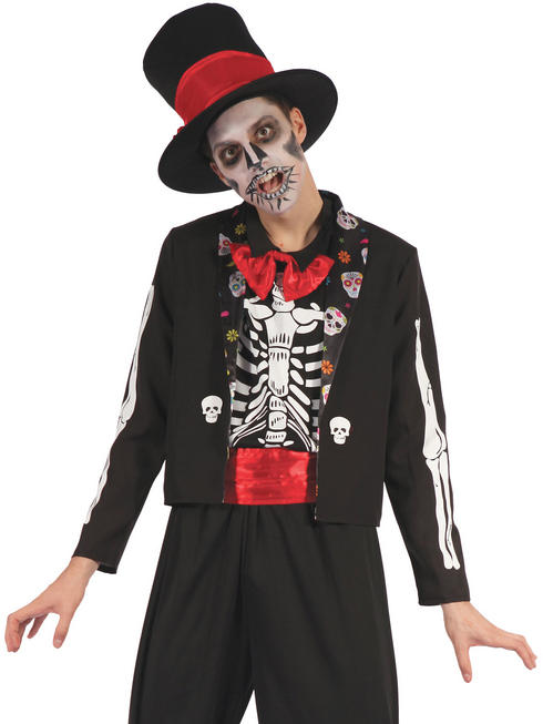 Men's Day Of The Dead Bone Suit Costume