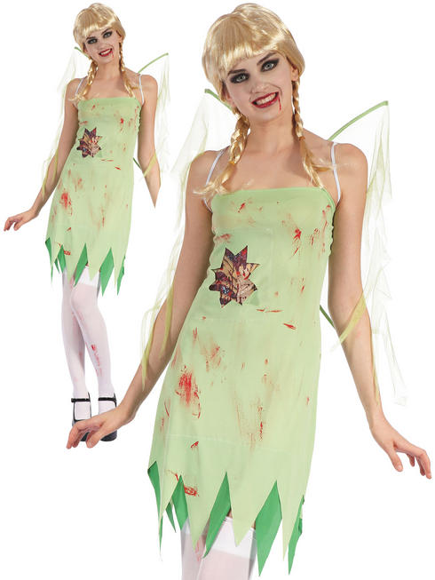 Ladies Bloody Fairy With Wings Costume - Standard