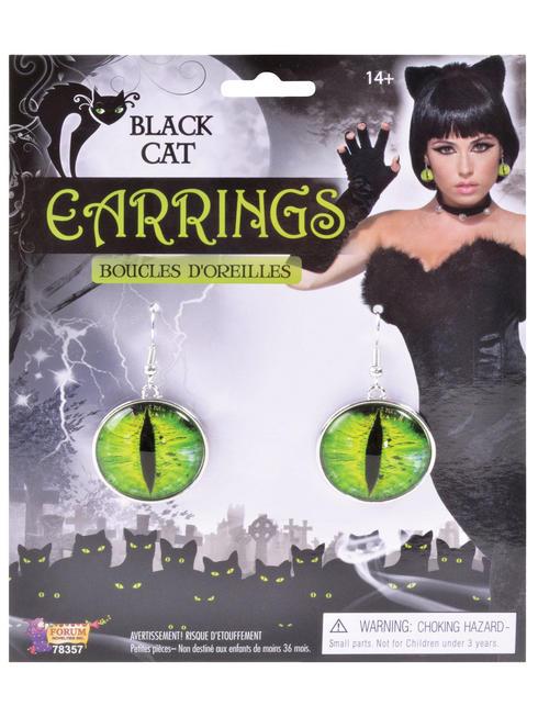 Black Cat Eye Earrings