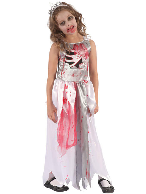 Girl's Bloody Zombie Queen Costume - Medium