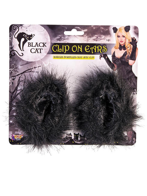 Black Cat Clip on Ears